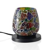Multi Color Oval Electric Lamp with Rock Salt