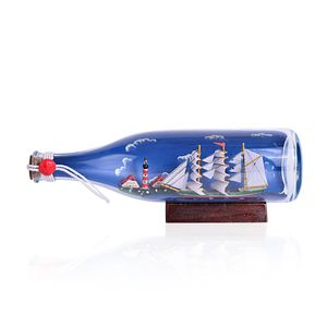 Ship in a Albeisa Bottle (10.5x4 in)