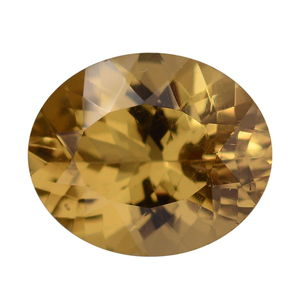 Golden Apatite (Ovl 11x9 mm) TGW 3.15 cts.