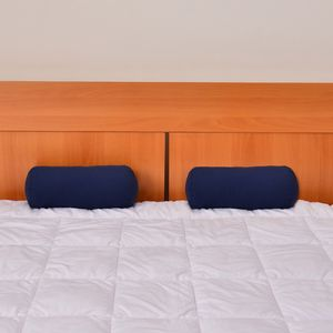 Set of 2 Navy Blue Microfiber Body Pillow Covers (13.5x6 In)