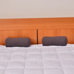 Set of 2 Dark Gray Microfiber Body Pillow Covers (13.5x6 In)