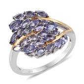 Tanzanite 14K YG and Platinum Over Sterling Silver Ring (Size 9.0) TGW 2.41 cts.
