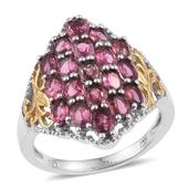 Morro Redondo Pink Tourmaline 14K YG and Platinum Over Sterling Silver Ring (Size 5.0) TGW 3.80 cts.