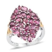 Morro Redondo Pink Tourmaline 14K YG and Platinum Over Sterling Silver Ring (Size 9.0) TGW 3.96 cts.