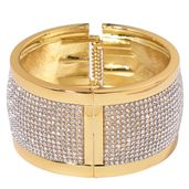 Austrian Crystal Goldtone Bangle (7.50 in)
