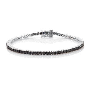 GP Certified Black Diamond (IR) Platinum Over Sterling Silver Bracelet (7.50 In) TDiaWt 3.25 cts, TGW 3.28 cts.