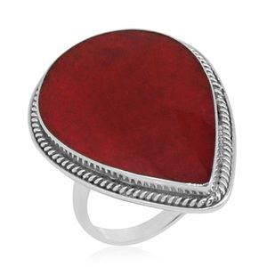 Bali Legacy Collection Sponge Coral Sterling Silver Ring (Size 8.0) TGW 7.510 cts.