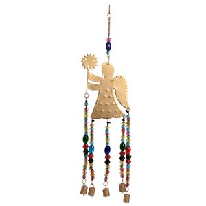 Multi Color Beads, Goldtone Angel Chime