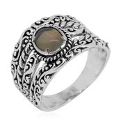 Bali Legacy Collection Ethiopian Welo Opal Sterling Silver Ring (Size 7.0) TGW 0.760 cts.