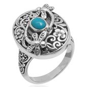 Bali Legacy Collection Arizona Sleeping Beauty Turquoise Sterling Silver Ring (Size 8.0) TGW 0.650 cts.