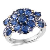 Himalayan Kyanite, Tanzanite 14K YG and Platinum Over Sterling Silver Ring (Size 5.0) TGW 4.73 cts.