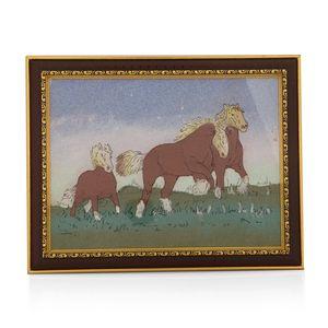 Running Horse Gem Stone Painting (14x11 in)