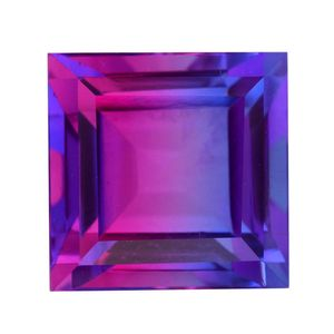 Midnight Fuchsia Quartz (Sqr 14 mm) Total Gem Stone Weight 15.10 Carat