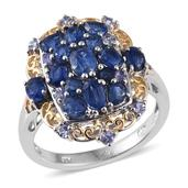 Himalayan Kyanite, Tanzanite 14K YG and Platinum Over Sterling Silver Ring (Size 7.0) TGW 3.66 cts.