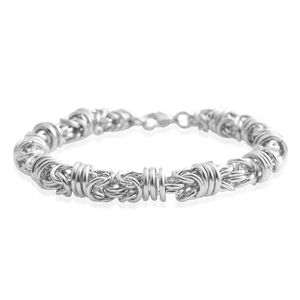 Stainless Steel Byzantine Station Bracelet (8.25 In)