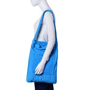 2 in 1 Sky Blue Beach Towel Bag (60x30 in)