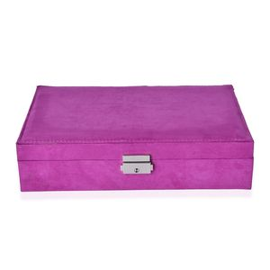 Purple Velvet Jewelry Box (11x7.5x2.8 in) TGW 50.00 cts.