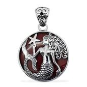 Bali Legacy Collection Sponge Coral Sterling Silver Pendant without Chain TGW 12.010 Cts.