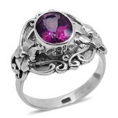 Bali Legacy Collection Pure Pink Mystic Topaz Sterling Silver Ring (Size 8.0) TGW 0.800 cts.