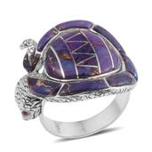 Santa Fe Style Mojave Purple Turquoise Sterling Silver Ring (Size 9.0) TGW 16.500 cts.