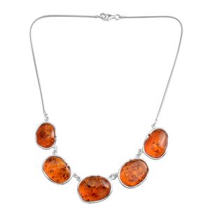 Baltic Amber Sterling Silver Necklace (19 in)