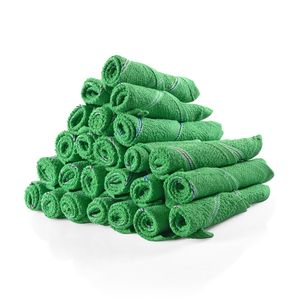 Set of 24 Green 100% Cotton Dish Cloths (9x9 in)