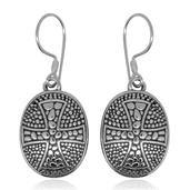 Bali Legacy Collection Sterling Silver Oval Cross Earrings (8.8 g)