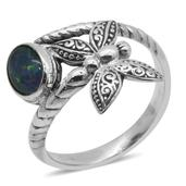 Bali Legacy Collection Australian Boulder Opal Sterling Silver Ring (Size 10.0) TGW 1.100 cts.