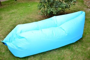 Inflatable Multi-Function Outdoor/Indoor Sofa Lounger-BLUE (80x25 in)