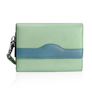 TLV Pistachio 100% Genuine Leather RFID Wallet (6x4 in)