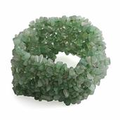 Tucson Jewels Green Aventurine Bracelet (Stretchable) (7.00 In) TGW 460.000 cts.