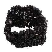 Tucson Jewels Black Onyx Bracelet (Stretchable) (7.00 In) TGW 445.500 cts.