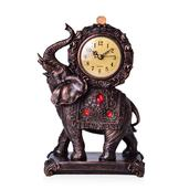 Elephant Shape Resin Clock (10.62x6.29x3.34 in) (AA Batteries Not Included)