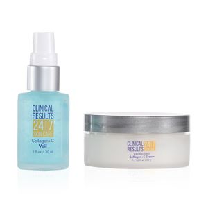 Clinical Results 24.7 Collagen+C Duo Includes Collagen+C Veil 1 fl oz and Collagen+C Cream 1.7 oz