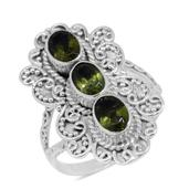 Bali Legacy Collection Hebei Peridot Sterling Silver Elongated Split Ring (Size 7.0) TGW 2.50 cts.
