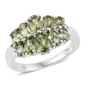 Forte Dauphin Apatite Platinum Over Sterling Silver Ring (Size 5.0) TGW 2.62 cts.