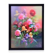 Floral Bush Printed 4D Painting (16x1x12 in)