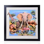 Animals Printed 3D Painting (16.5x16.5in)