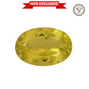 IGI Certified Canary Tourmaline Faceted (Ovl 11.21x7.68 4A) TGW 2.67 cts.