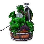 Multi Color Chroma Frog Water Fountain with Rotating Ball (6.8x10.2x5 in)