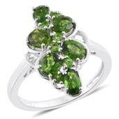 Russian Diopside Platinum Over Sterling Silver Ring (Size 5.0) TGW 2.60 cts.