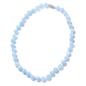 Espirito Santo Aquamarine Beads Sterling Silver Necklace (20 in) TGW 345.50 cts.