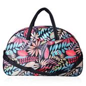 Multi Color Leaves Pattern 100% Polyester Duffel Bag (19.6x6.6x12.2 in)
