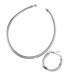 Stainless Steel Bracelet (7.5- 8 in) and Necklace (24.00 In)