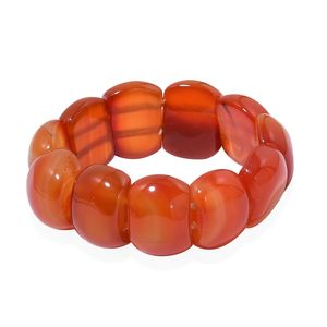 Red Agate Bracelet (Stretchable) TGW 424.00 cts.