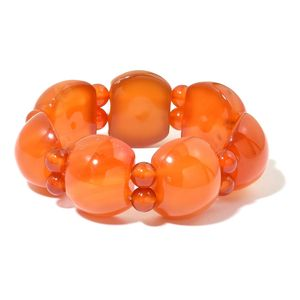 Red Lace Agate Bracelet (Stretchable) TGW 557.50 cts.