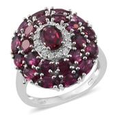 Mahenge Umbalite, Cambodian Zircon Platinum Over Sterling Silver Ring (Size 9.0) TGW 7.11 cts.