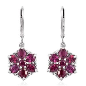 Mahenge Umbalite Platinum Over Sterling Silver Lever Back Earrings TGW 3.08 cts.