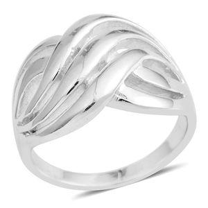 Silvertone Cross Ring (Size 8.0)