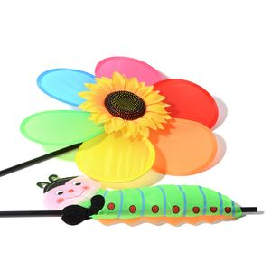Rainbow Sunflower Wind Spinner (14 in)